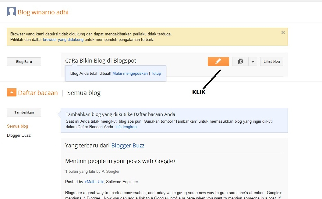 Belajar Cara Bikin Blog di Blogspot - Belajar Internet