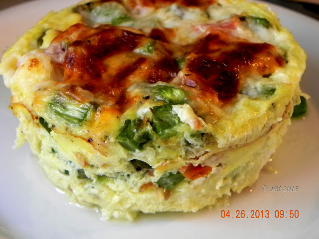 beyond foods: BAKED EGGS FOR BRUNCH (CHEESY ASPARAGUS QUICHE)