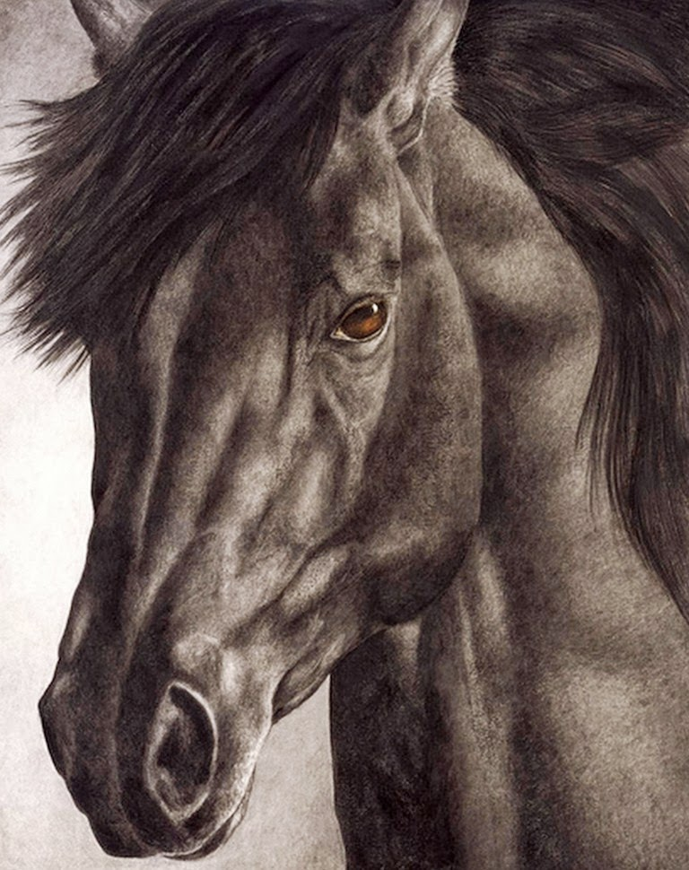 caballos-en-acuarela