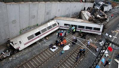 nahas kereta api di Sepanyol