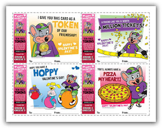 Chuck E Cheese Valentines Day Cards