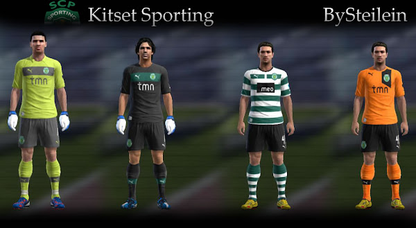 PES 2012 Sporting Lisboa 2012/13 Kits by Stelien