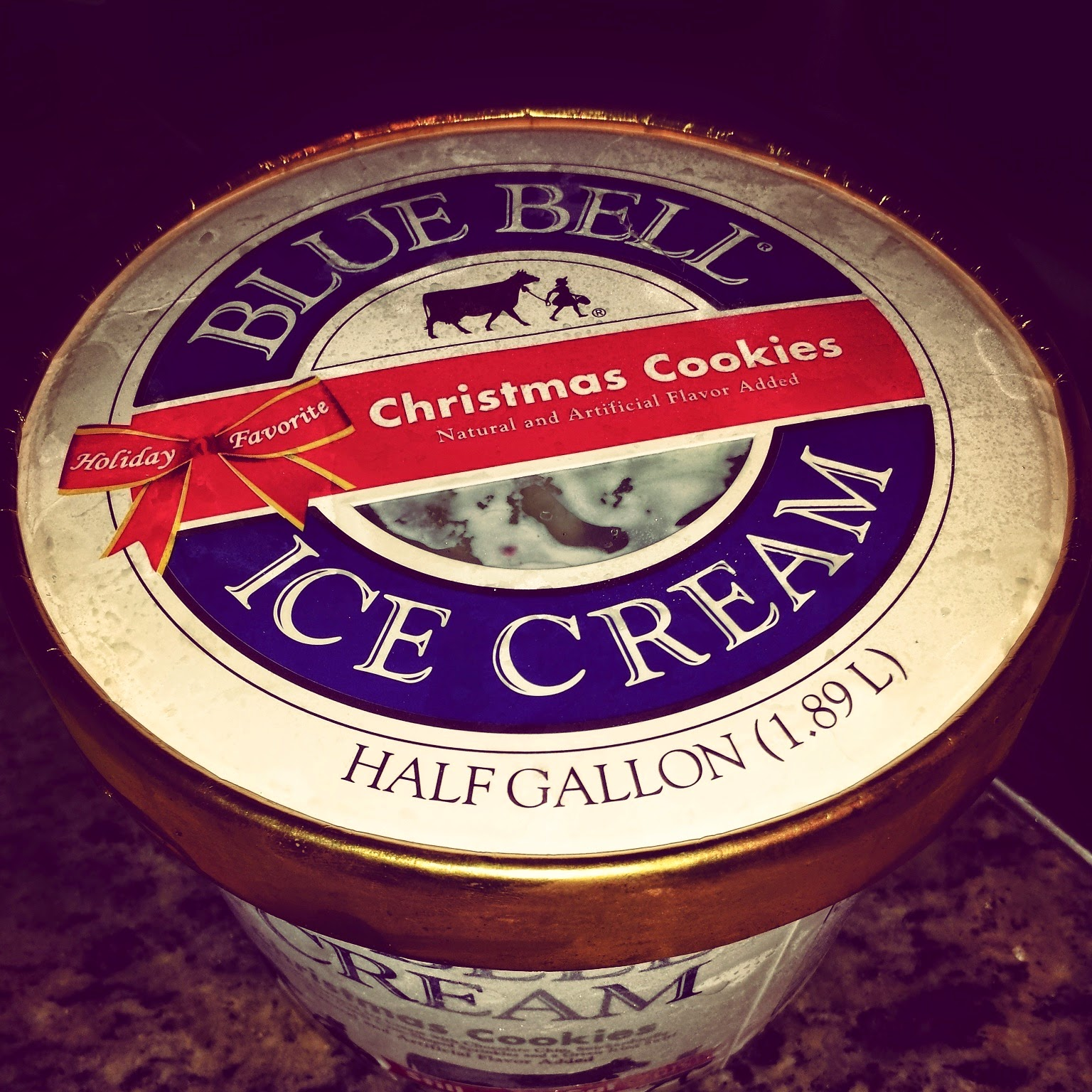 Str8 up with a twist pic of the day for Christmas cookie ice cream blue bell