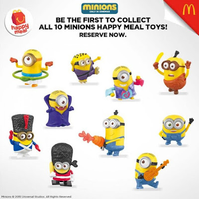 McDonald's 10 Minions Happy Meal Toys