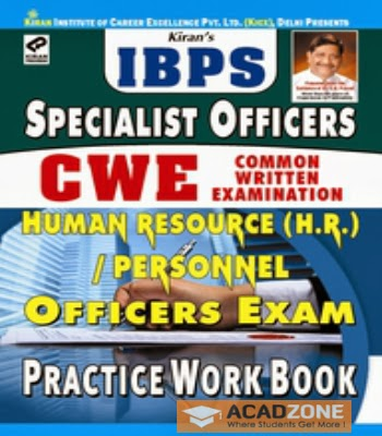 IBPS Specalist Officer CWE Human Resource H.R.Personnel Officers Exam Practice Work Book