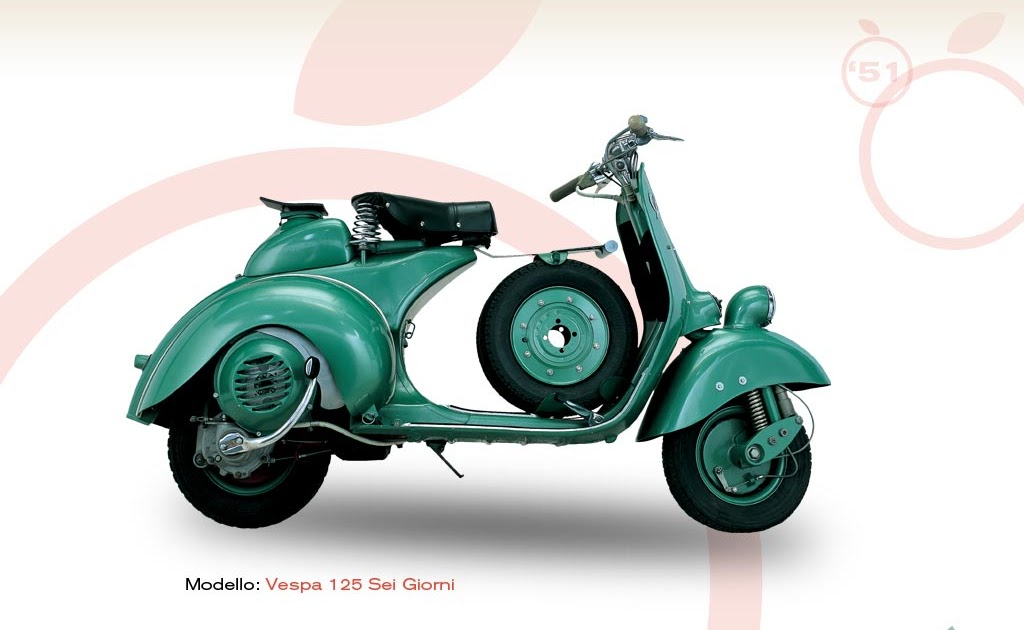 vespa 125 sei giorni 1951 vespa scooters. Black Bedroom Furniture Sets. Home Design Ideas