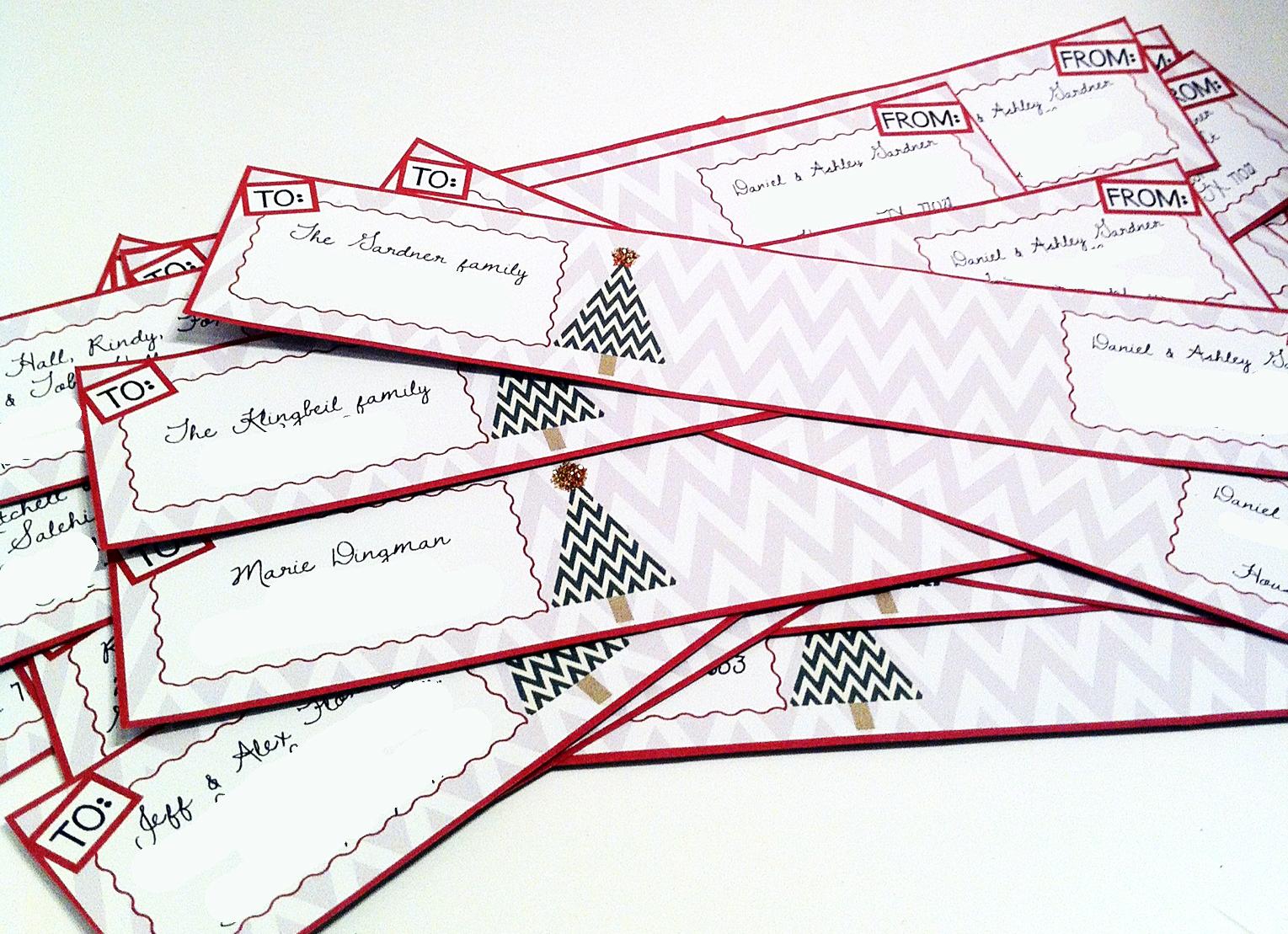 free printable christmas return address labels