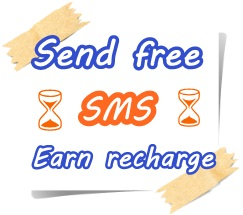 Earn money and recharge by sending free sms