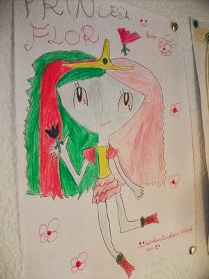 Princesa Flor (Dibujo mio animee)