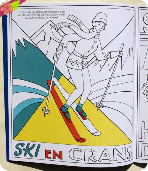 Motifs Art déco à colorier aux éditions Usborne