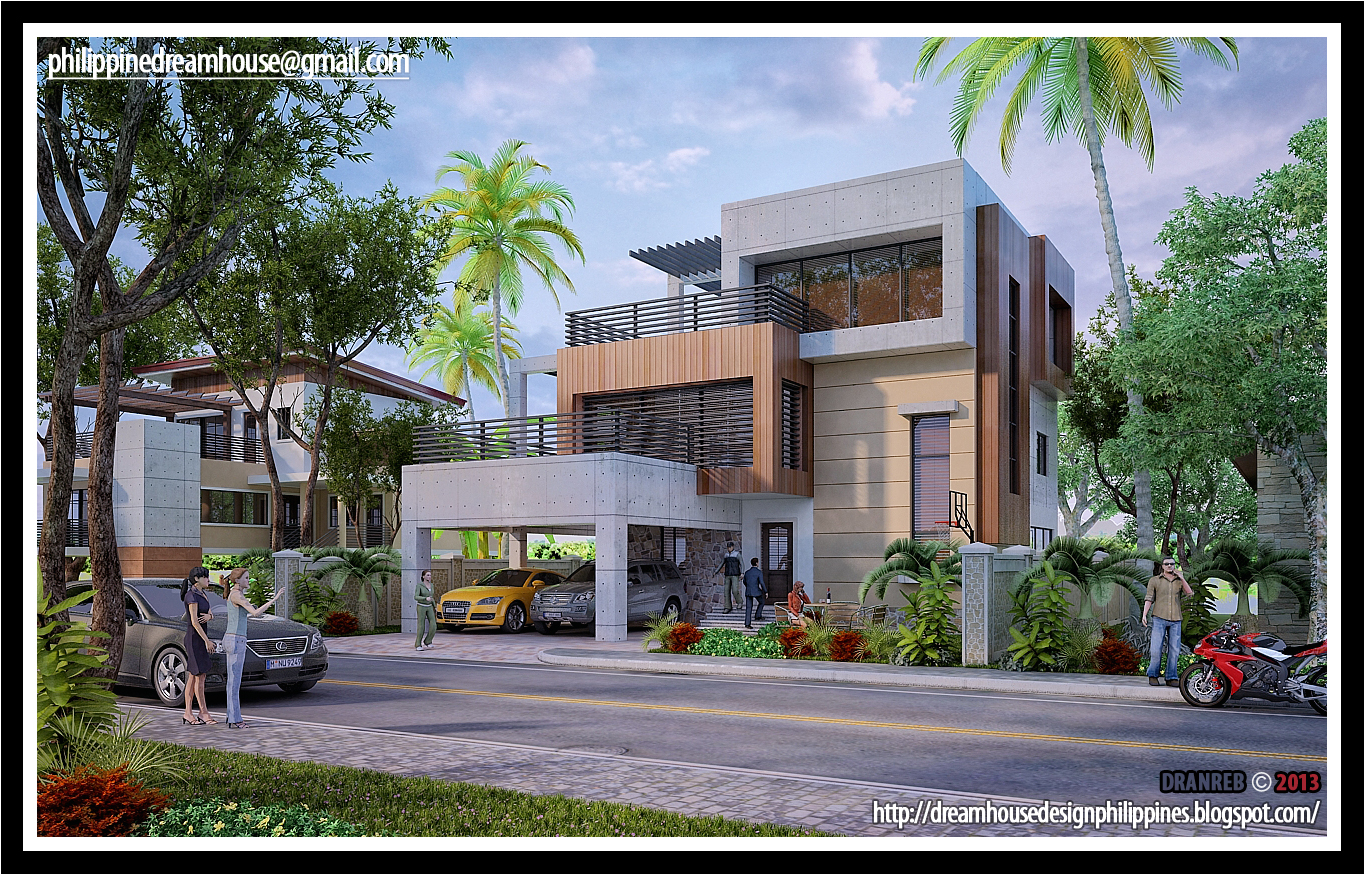 Philippine dream house design three storey modern house for Modern house plans 3 story