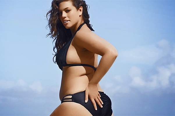 plus-size model Ashley Graham in bikini