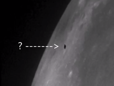 Black Knight Captured Near The Moon 2015