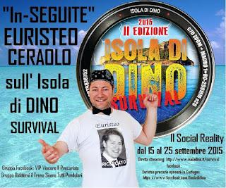 SEGUI IL NAUFRAGO EURISTEO SUL REALITY SHOW ISOLA DI DINO SURVIVAL