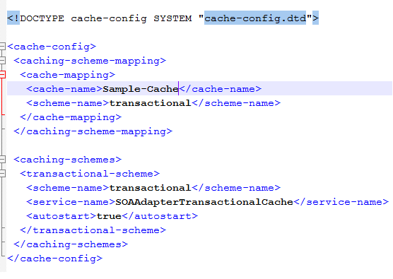 Coherence Cache config file