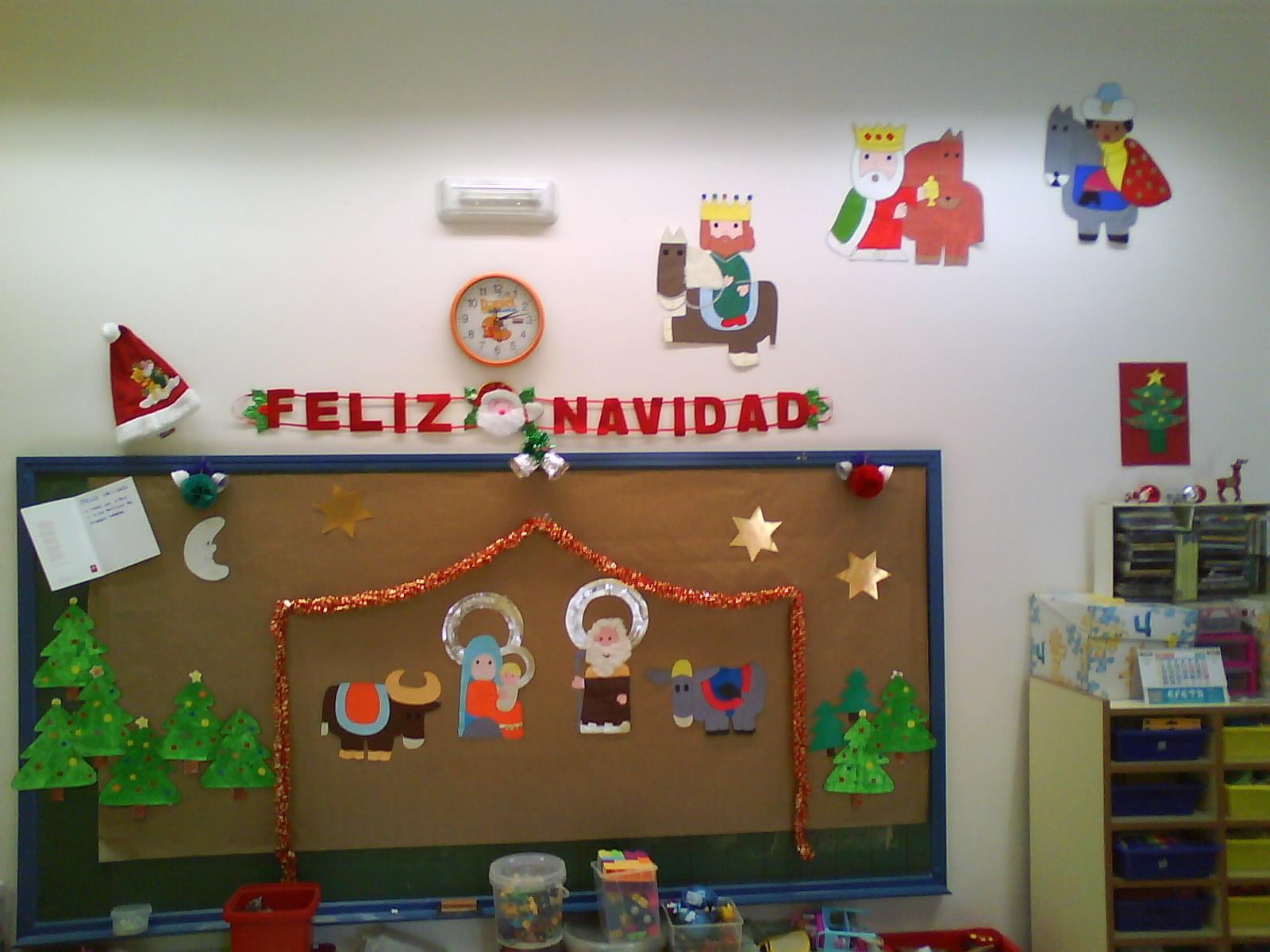 La se o maril y sus ni os decoraci n navide a - Murales decorativos de navidad ...