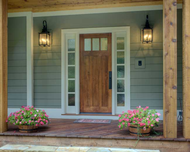 Entry doors with sidelights cheap front doors for Front door with window on top