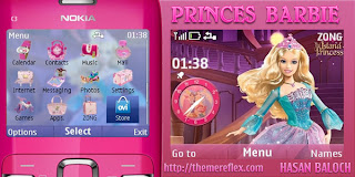 princes barbie c3 by hb Download Tema Nokia C3 Gratis