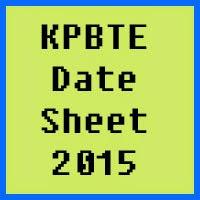 Khyber Pakhtunkhwa Board of Technical Education Peshawar Date Sheet 2016