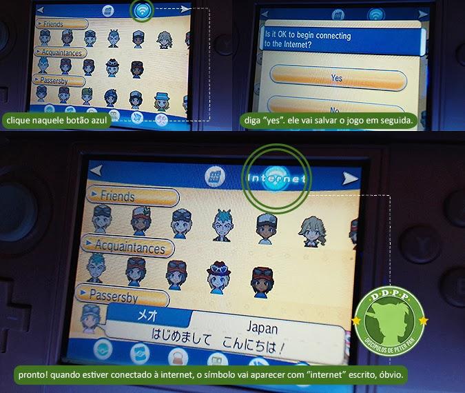 Ligar internet no PSS de Pokémon XY