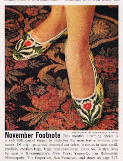 Carpet Slippers from 1963 that look like, well, carpet.