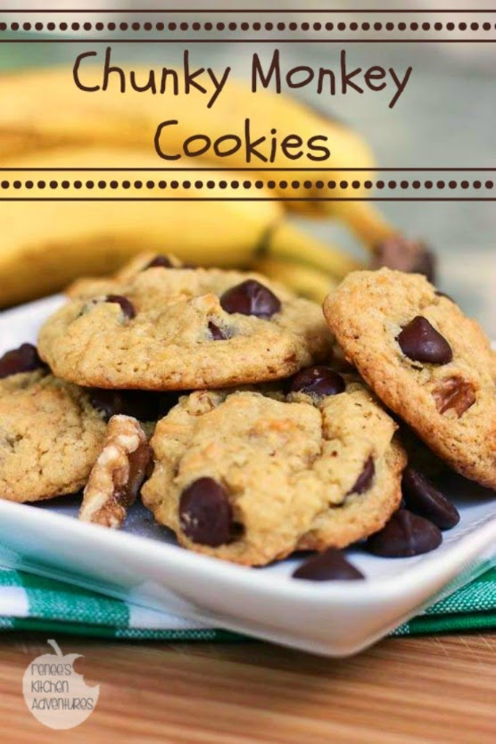 Chunky Monkey Cookies:  from a cake mix!