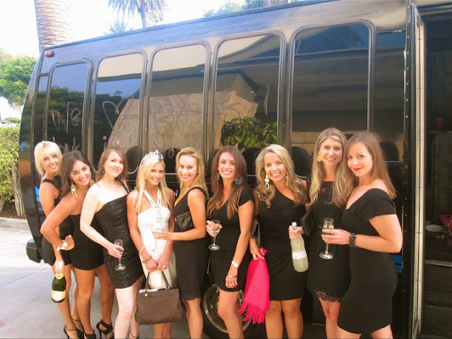 Limo+Bus+in+LA+for+Bachelorette+Party