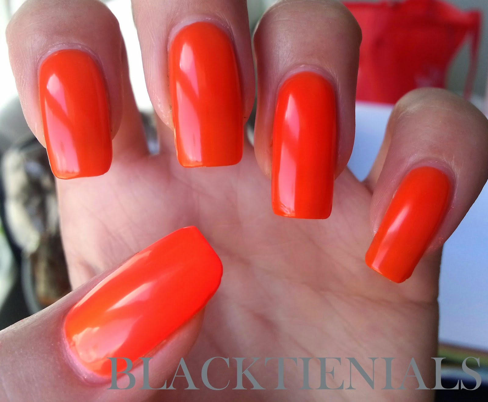Black Tie Nails: Neon Orange Comparison (think Traffic Cones!)