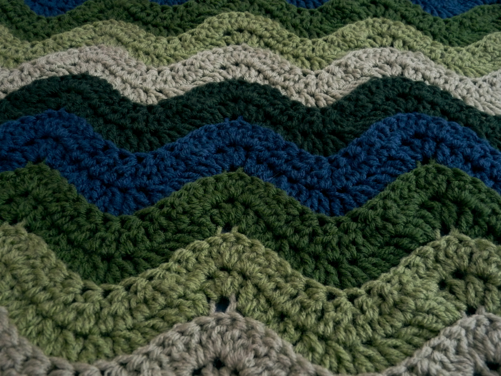 Our Ocean Waves Afghan used a total of 2 pounds (895gms) of Red Heart ...