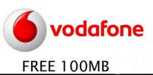 vodafone free 100mb internet data
