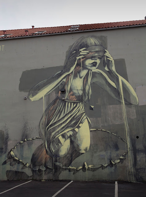 """Chant"", Street Art Mural By Faith47 For Nuart In Stavanger, Norway. 2"