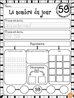 https://www.teacherspayteachers.com/Product/Nombre-du-jour-les-nombres-1-100-Ensemble-French-Numbers-2099276