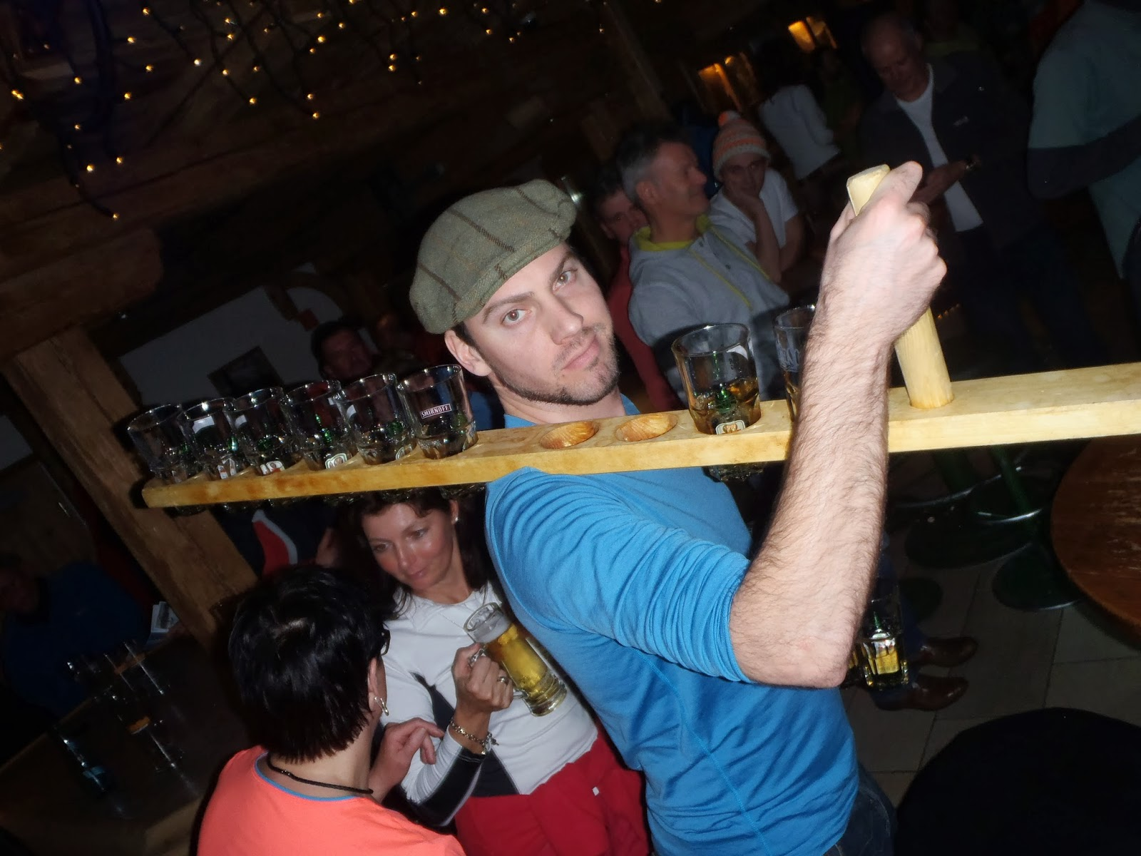 A metre of Flying Hirsh, Jagerbombs - Bruck n' Stadl, Mayrhofen