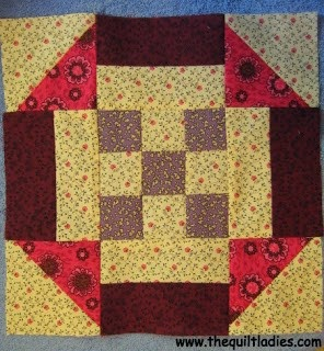 free quilt pattern with squares and triangles