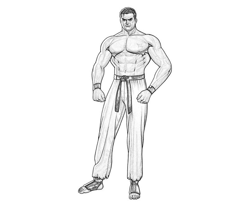 king-of-fighters-takuma-sakazaki-character-coloring-pages