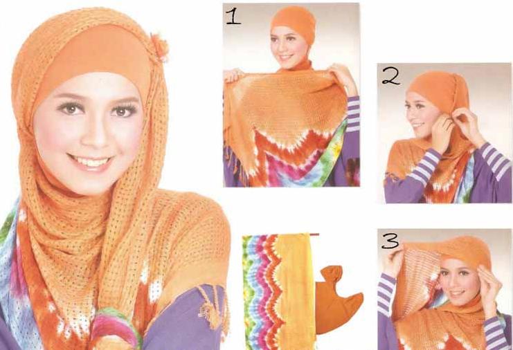how to wear hijab step by step