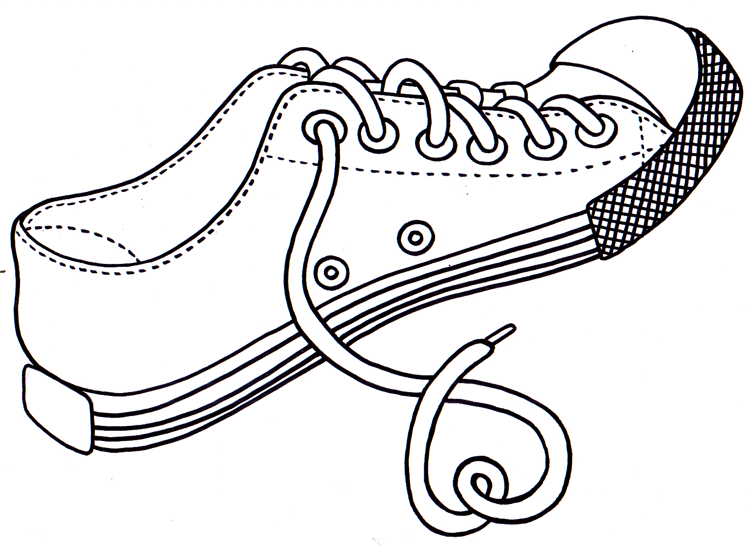 Printable Coloring Pages Shoe Coloring Pages