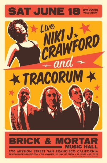 6/16 : Niki J. Crawford, TRACORUM at Brick & Mortar  **WIN TICKETS**