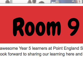 Room 9 class blog 2017