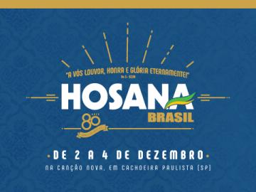 HOSANA BRASIL 2016 - CANÇÃO NOVA