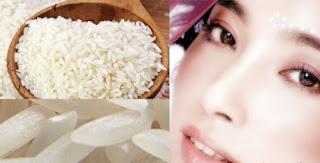 Memutihkan kulit menggunakan beras