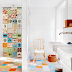 | Multi-colour tiled bathroom