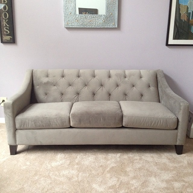Pittsburgh, moving, reflection, recollection, decorating, apartment, home decor, Macy's Chloe tufted velvet couch