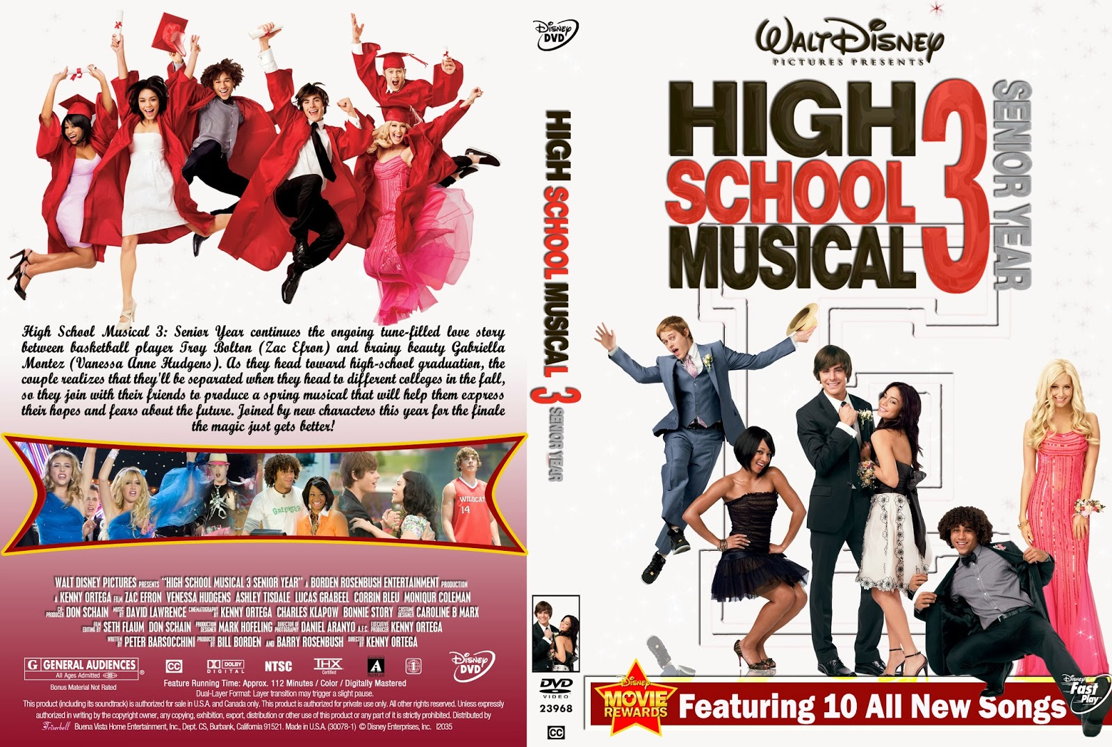 High School Musical 3 DVD COVER