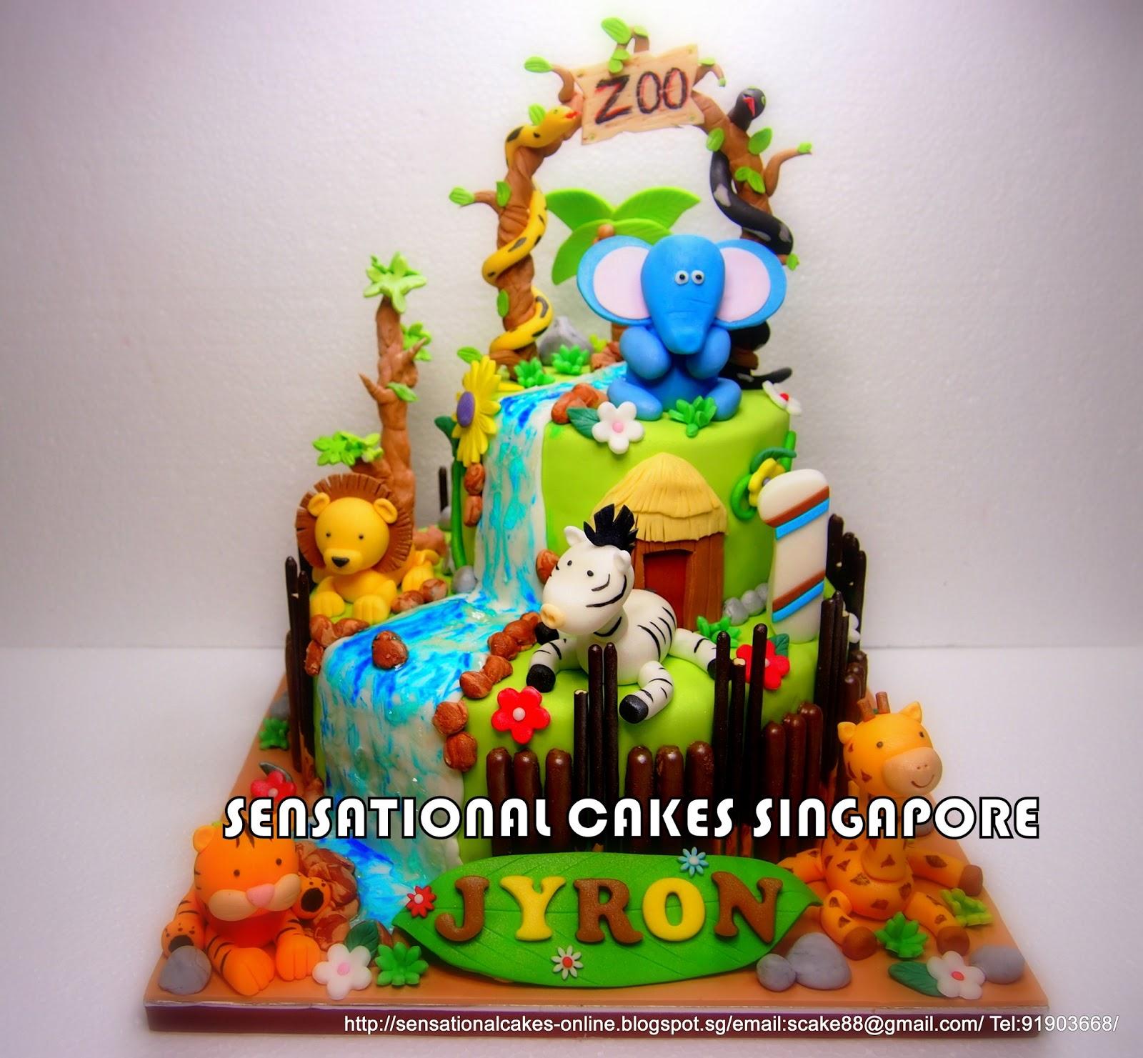 The Sensational Cakes Animals Zoo Cake Singapore Zoo Theme Snake