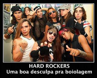 hard rockers - boa desculpa para boiolagem - fotos de rockeiros vestidos como travecos