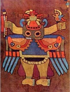 Símbolo en tejido Parakas (Tawantinsuyu)