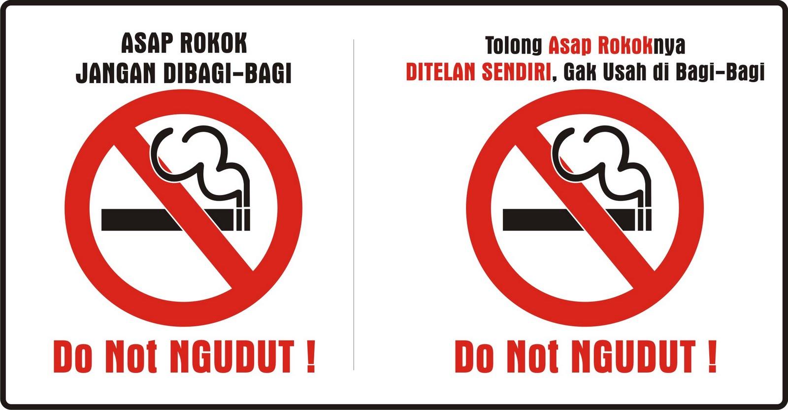 poster kampanye kawasan dilarang merokok