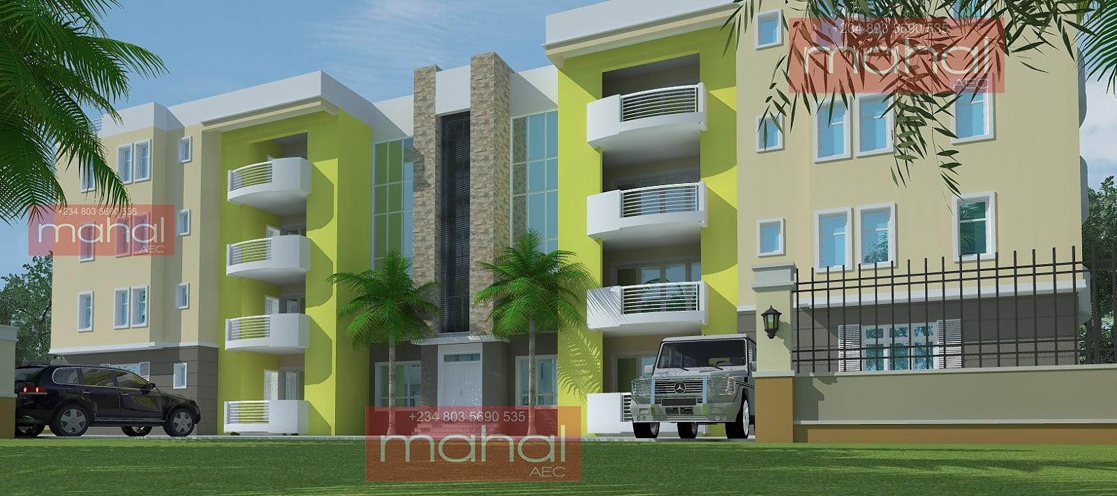 Contemporary nigerian residential architecture oniru flats for Apartment plans in nigeria