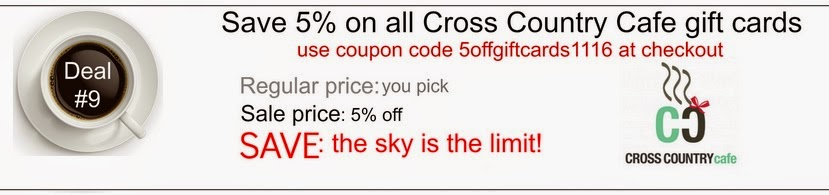 Cross Country Cafe gift card